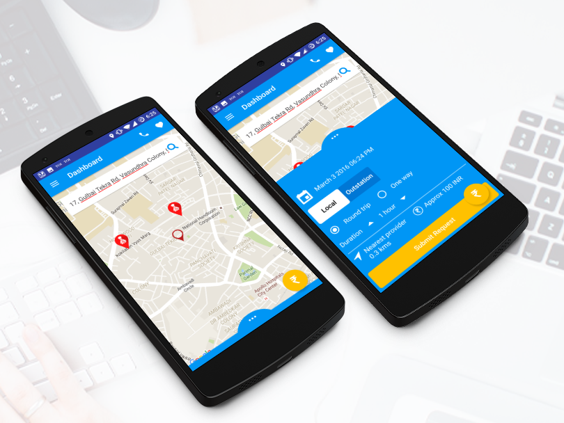 24X7Driver- Taxi Cab App Development, GPS Enabled App Development